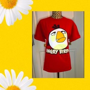 Retro Angry Birds Tee ❤️ 100% Cotton Size AU L ❤️